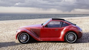 old-red-car-in-the-beach-315114